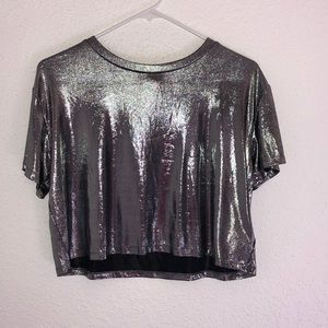 Metallic crop top from H&M